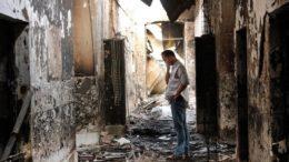 """Обугленные остатки больницы """"Врачей без границ"""" в афганском Кундузе"""